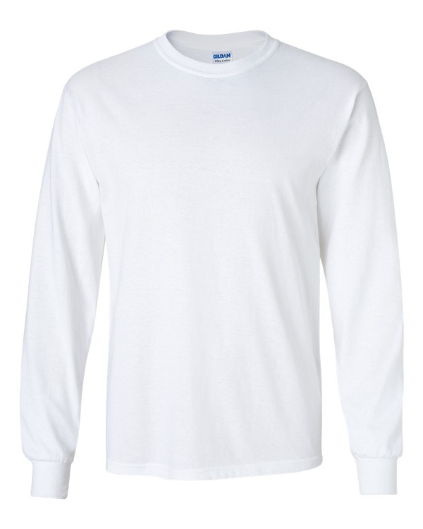Gildan | Long Sleeve T-Shirt - White - DC